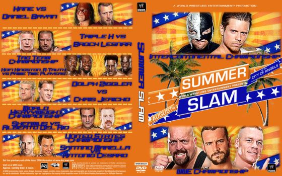 WWE SummerSlam 2012 by Spacehoper29