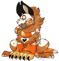 Candycorn Gremlin {CLOSED AUCTION} by Klaxxi-va