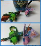 Alebrije's Collage (polymer) by danielaurista
