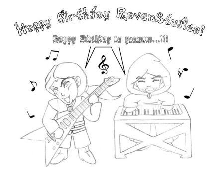 Happy Birthday Raven-Studios by vampirisa