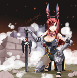 Erza by claudiadragneel