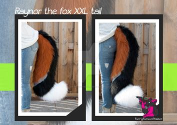 Raynor the fox - XXL tail commission by FurryFursuitMaker