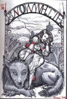 Snow White And Bigby Wolf by LeighSimmons