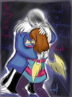 Nightmare (frisk and sans) by lady-heart235