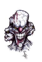 Evil clown by mentalhorror