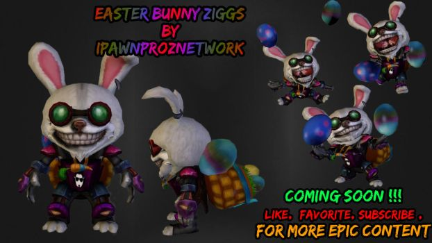 Easter Bunny Ziggs 3d Model - LeagueOfLegends by carlozs