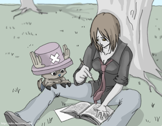 Nami and Chopper After School by Zinfer