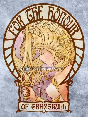 Art Nouveau She-Ra by Fylgjur