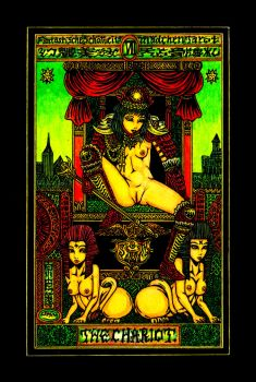 Aesthetic Beautiful Girls Tarot 7 The Chariot by sawsin