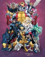X-Men 2008 Pinup by Todd Nauck by thisisphilgood