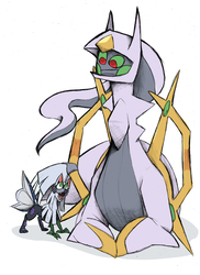 [Sketch reward] Baby Silvally and Arceus by nuclear-smash