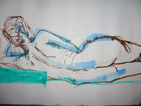 02March09 Watercolour Nude by Messy-Media