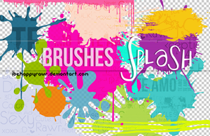 Brushes Splash BHR by iBeHappyRawr