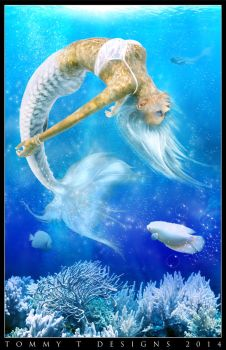 The White Mermaid by Tommy-T-Designs