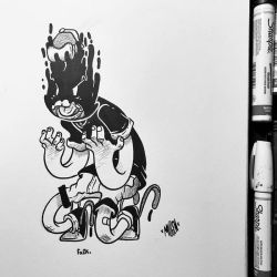 Inktober #3: Yesterday I had a foul mood by MFMugen