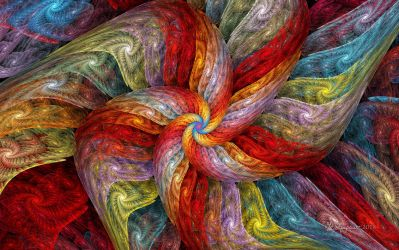 Textured Color Spiral by wolfepaw
