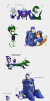 Megaman 3 - Sketches - Colored by zavraan