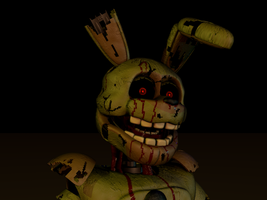 Springtrap Head Shot by bluthesnowleopord