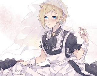 .maid prompto + speedpaint by milemiru