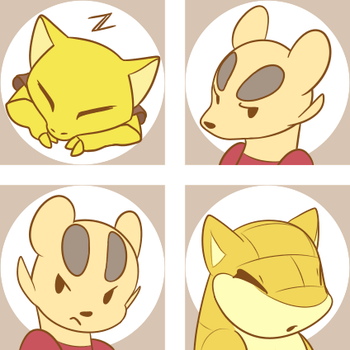 Icon set - Chord, Tsungi, Fiddler by obviousOddball