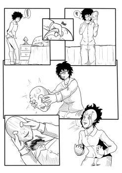 [Comission] Syndalie's Cursed Mask pg1 by MegaLinx