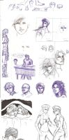 Mostly FFXIII Sketch Dump by trixdraws