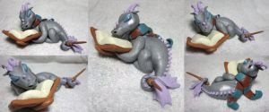 Ravenclaw Reading Dragon for StormyWolf by SmilingMoonCreations