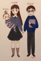 The Baudelaire children by tiachristiner