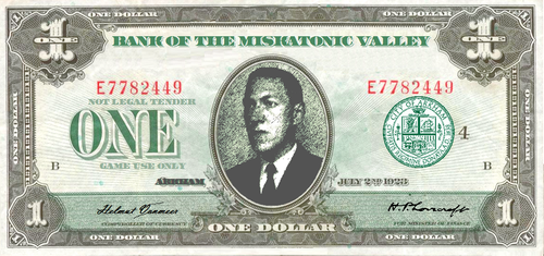 Play Money ($1) RPG/LARP /MISKATONIC VALLEY BILL by vonmeer