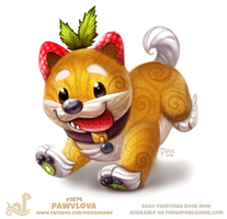 Daily Paint 1874# Pawvlova by Cryptid-Creations