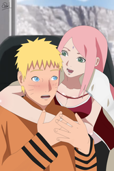 NaruSaku (commission) by kurotaka911