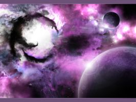 Violet Cosmo by sabrine-wallpapers