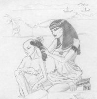 ancient egypt by Elrallinde