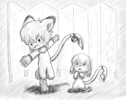 Anthro and feral by ruakuu
