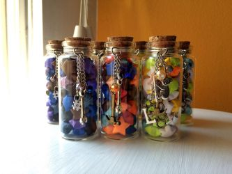 Toolbox Gang Lucky Star Bottles by LadyDorian