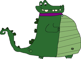 Al the alligator with a big belly by fifimcfeef