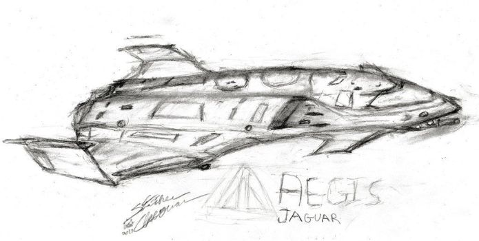 Concept Sketch: Aegis Jaguar by StrikerCheguar