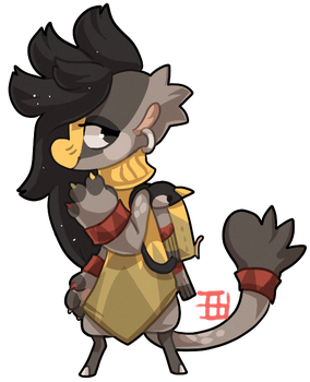 #821 Bagbean - Silver eared meisa - Auction by griffsnuff