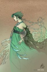 The green lady by Little-Endian