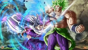 Gohan Ultra Instinct VS Broly by Maniaxoi
