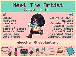 Meet The Artist Meme by MieuChan