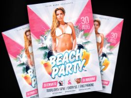 Beach Party Flyer Template by AlexYanko