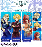 Dissidia Aces Cycle 03 Prelim by Kawaii-Ash