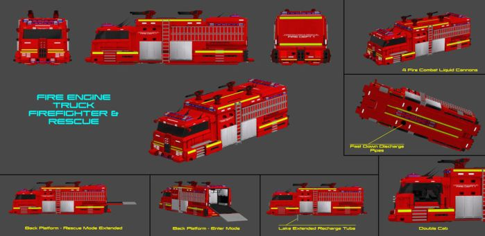 Fly Cars Concept - Fire Engine by nach77