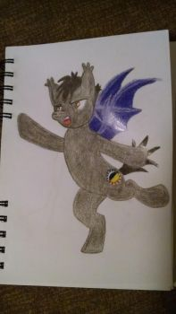 SilverWing as a Batpony by SilverWing27