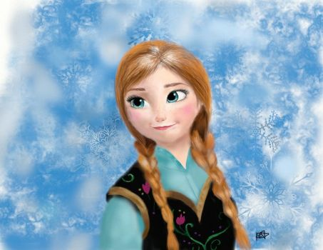 Anna from Frozen by MoonlitViolins