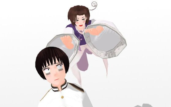 MMD Your chest is mine!! by PrincessSushiCat