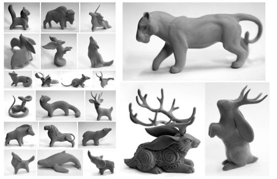 Sculptures for casting by hontor