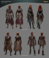 Guild Wars 2 Medium Armor Sets by haikai13