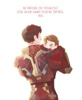 Papa Tony And little son by minkyme068